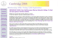 Preview of cambridge2008.sgthome.co.uk