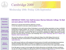 Tablet Preview of cambridge2008.sgthome.co.uk